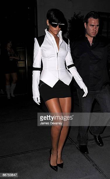 Rihanna visits Gramercy Park Hotel on June 29, 2009 in New York City.