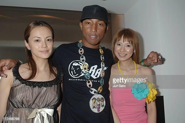 Riho Makise Pharrell Williams of N*E*R*D and Sakura Uehara