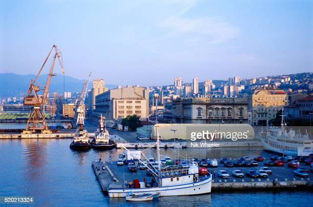 rijeka harbor in croatia - rijeka stock pictures, royalty-free photos & images