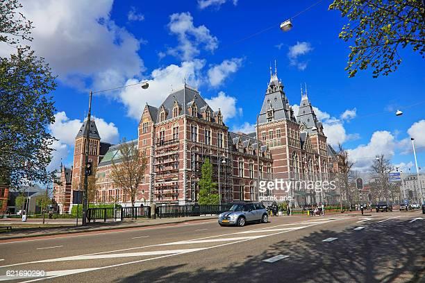 rijksmuseum in amsterdam, netherlands - rijksmuseum stock photos and pictures
