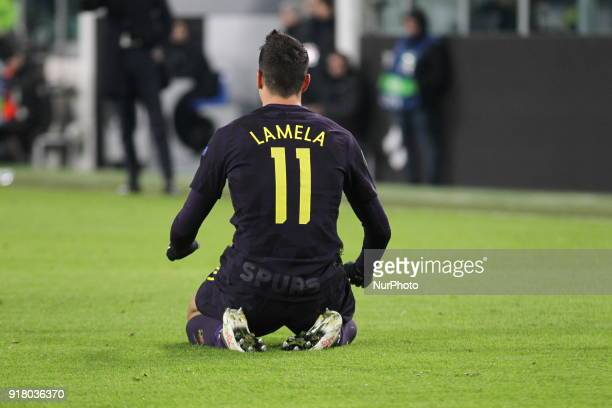 rik Lamela during the UEFA Champions League 2017/18 football match between Juventus FC and Tottenham Hotspur FC at Allianz Stadium on 13 February...