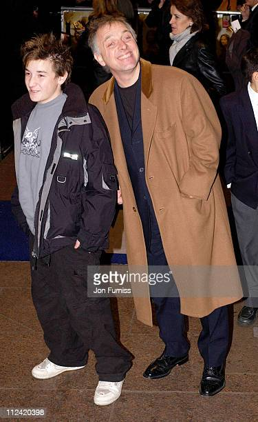 Rik Mayal and son during 'Lord of the Rings The Two Towers' UK Premiere Arrivals at Odeon Leicester Square in London Great Britain