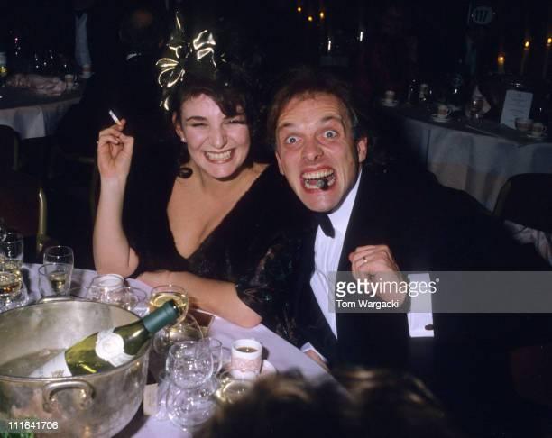 Rik Mayall and wife Barbara at The Olivier Awards during Rik Mayall at The Olivier Awards in London Great Britain