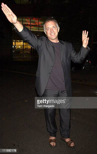 Rik Mayall during Rik Mayall Departs from The Ivy Restaurant in London September 5 2005 at The Ivy Restaurant in London Great Britain