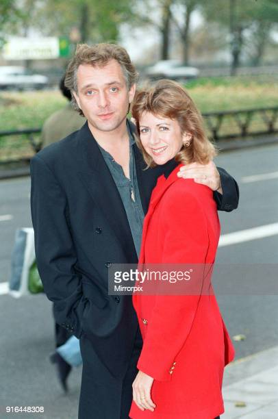 Rik Mayall who plays the Conservative MP Alan B'Stard in the TV situation comedy The New Statesman seen here with his on screen wife Sarah B'Stard...