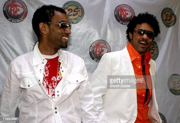 Rik Rok and Shaggy during VP Records 25th Anniversary - Arrivals and Concert at Radio City Music Hall in New York City, New York, United States.