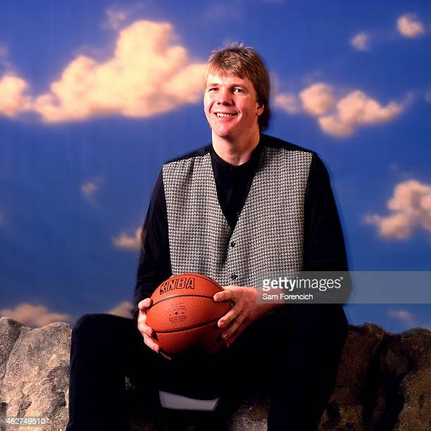Rik Smits of the Indiana Pacers poses for a portrait during NBA AllStar Weekend on February 6 1998 in New York City NOTE TO USER User expressly...