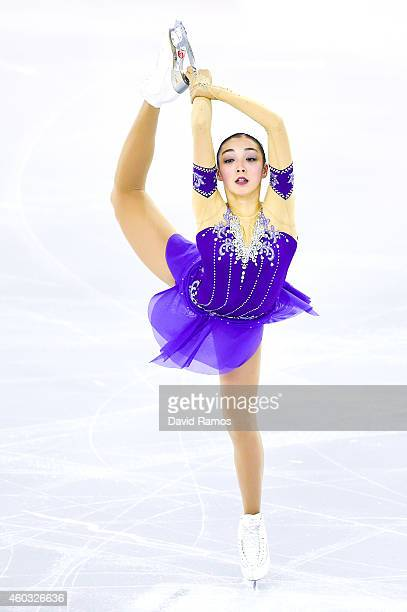 Rika Hongo of Japan during the Short Program Final during day one of the ISU Grand Prix of Figure Skating Final 2014/2015 at Barcelona International...