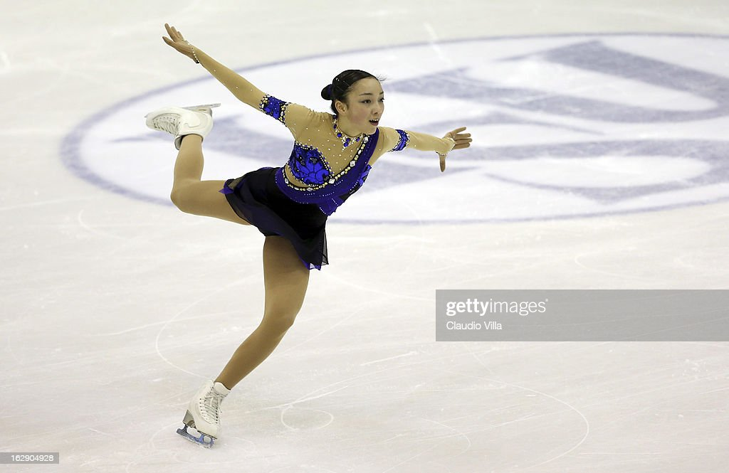Rika Hongo of Japan skates in the Junior Ladies Short Program during day 5 of the ISU World Junior Figure Skating Championships at Agora Arena on March 01, 2013 in Milan, Italy.