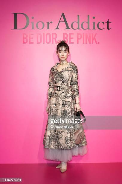 Rika Izumi attends Dior Addict Stellar Shine launch at Hotel Koe on April 2 2019 in Tokyo Japan