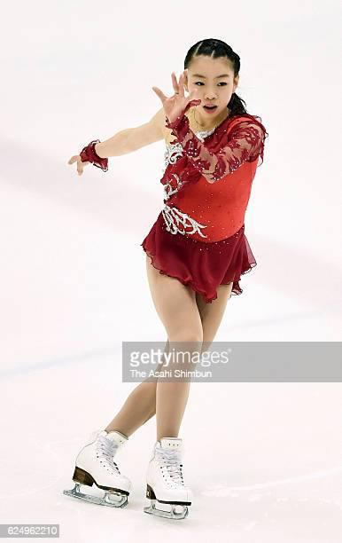 Rika Kihira competes in the Women's Singles Short Program during day two of the 85th All Japan Figure Skating Junior Championships at Sapporo...