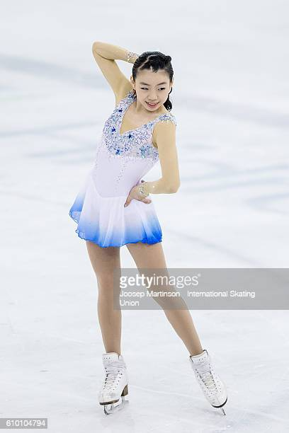 Rika Kihira of Japan competes during the Junior Ladies Free Skating on day three of the ISU Junior Grand Prix of Figure Skating on September 24 2016...