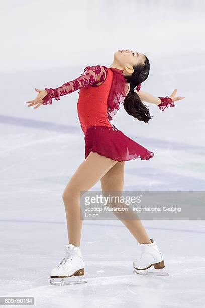 Rika Kihira of Japan competes during the Junior Ladies Short Program on day one of the ISU Junior Grand Prix of Figure Skating on September 22 2016...