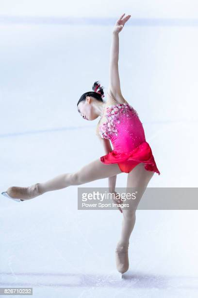 Rika Kihira of Japan competes in Junior Ladies group during the Asian Open Figure Skating Trophy 2017 on August 05 2017 in Hong Kong Hong Kong