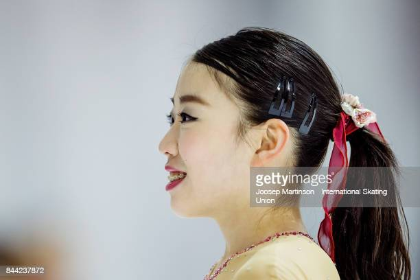 Rika Kihira of Japan competes in the Junior Ladies Free Skating during day 2 of the Riga Cup ISU Junior Grand Prix of Figure Skating at Volvo Sports...