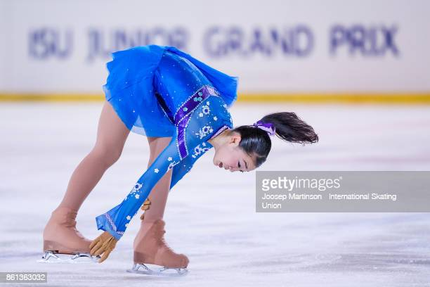 Rika Kihira of Japan competes in the Junior Ladies Free Skating during day three of the ISU Junior Grand Prix of Figure Skating at Wurth Arena on...