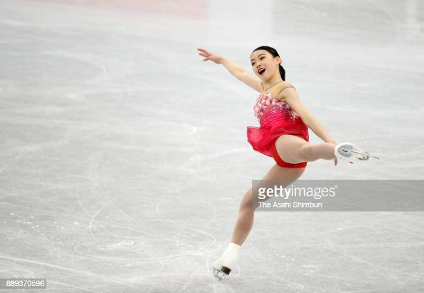Rika Kihira of Japan competes in the Junior Ladies Singles Free Skating during day three of the ISU Junior Senior Grand Prix of Figure Skating Final...