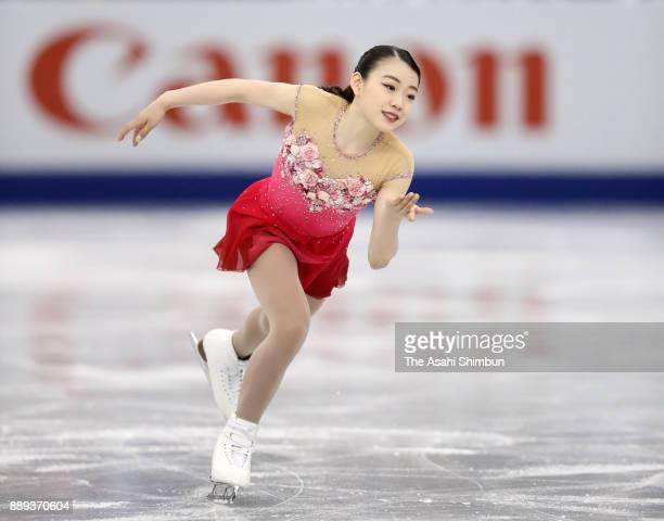 Rika Kihira of Japan competes in the Junior Ladies Singles Free Skating during day three of the ISU Junior Senior Grand Prix of Figure Skating Final...