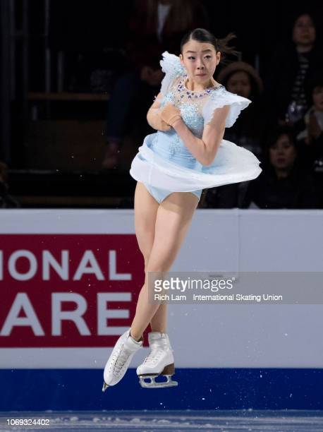 Rika Kihira of Japan competes in the Short Program of the Women's competition at the ISU Junior and Senior Grand Prix of Figure Skating Final...