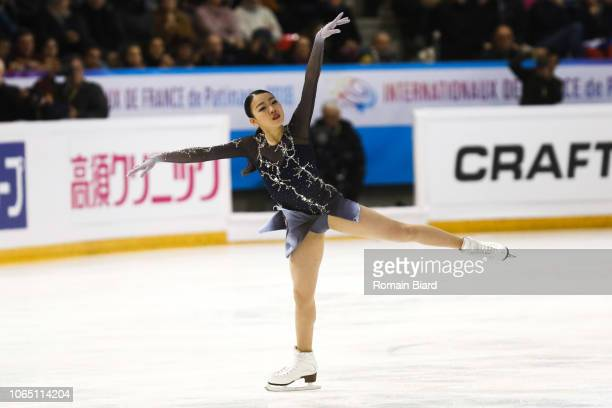 Rika Kihira of Japan during the French Internationals of Grenoble on November 24 2018 in Grenoble France