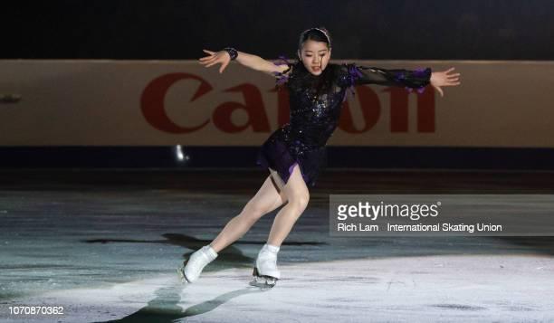 Rika Kihira of Japan performs at the Gala Performance on December 2018 at the ISU Junior Senior Grand Prix of Figure Skating Final in Vancouver...