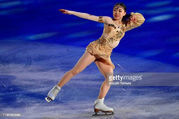 Rika Kihira of Japan performs during the All Japan Medalist On Ice at the Yoyogi National Gymnasium on December 23, 2019 in Tokyo, Japan.