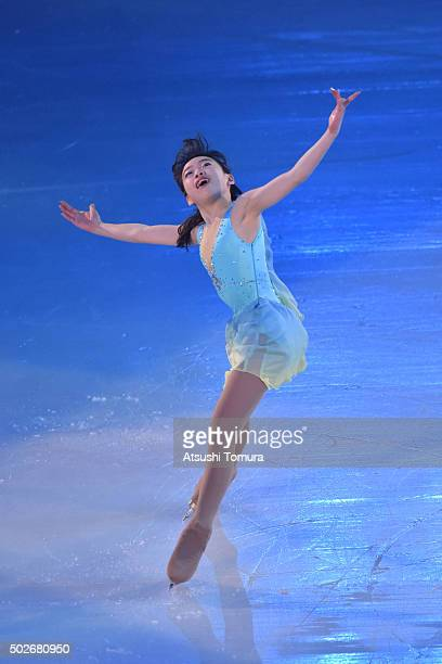 Rika Kihira of Japan performs her routine in the exhibition on the day four of the 2015 Japan Figure Skating Championships at the Makomanai Ice Arena...