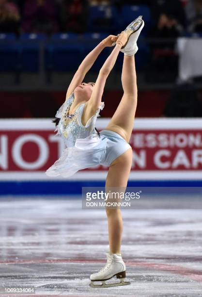 Rika Kihira of Japan performs in the Ladies Short Program at the ISU Grand Prix of the Figure Skating Final 2018-19, in Vancouver, Canada on December...