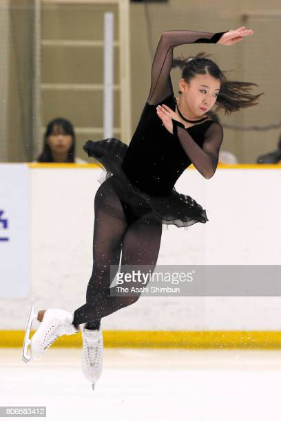 Rika Kihira performs during the Kansai University Ice Show on July 2 2017 in Takatsuki Osaka Japan