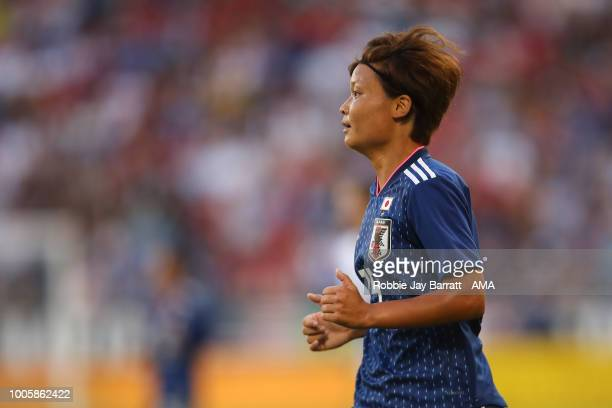 Rika Masuya of Japan during the 2018 Tournament Of Nations women's match between Japan v United States of America at Children's Mercy Park on July 26...