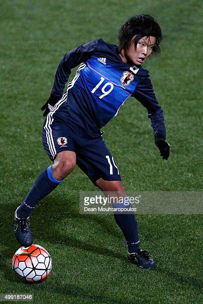 Rika Masuya of Japan in action during the International Friendly match between Netherlands and Japan held at Kras Stadion on November 29 2015 in...