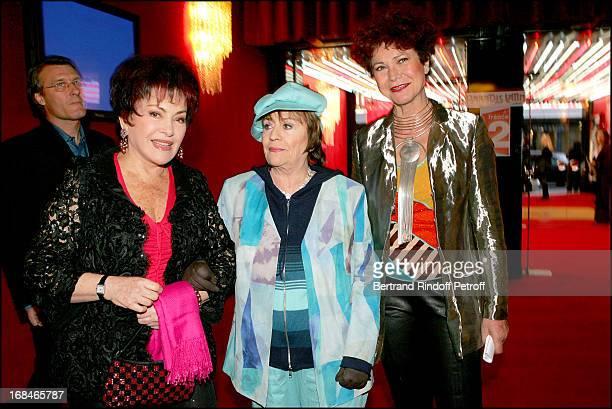 Rika Zarai Annie Girardot and Pascale Breugnot at Dalida TV Film Tribute To The Singer