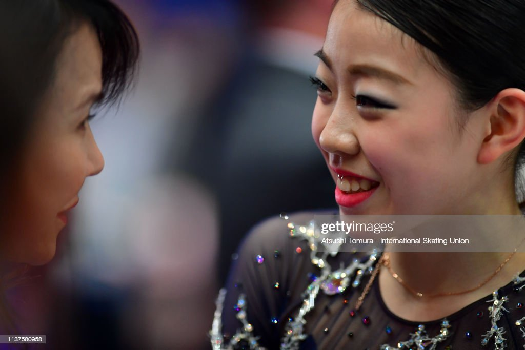 rikakihira-of-japan-reacts-after-competing-in-the-ladies-free-skating-picture-id1137580958