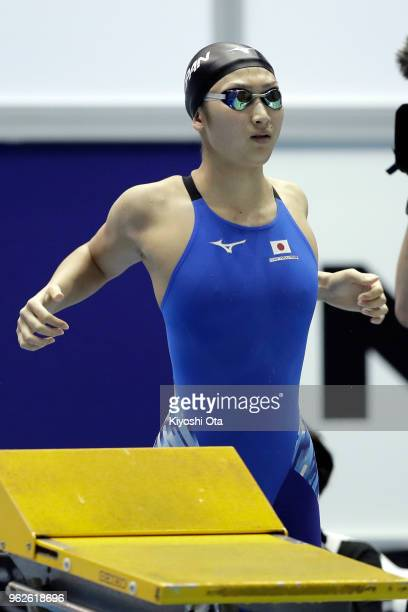 Rikako Ikee of Japan competes in the Women's 100m Freestyle final on day three of the Swimming Japan Open at Tokyo Tatsumi International Swimming...
