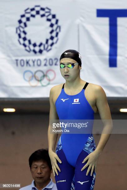 Rikako Ikee of Japan competes in the Women's 50m Butterfly final on day one of the Swimming Japan Open at Tokyo Tatsumi International Swimming Center...