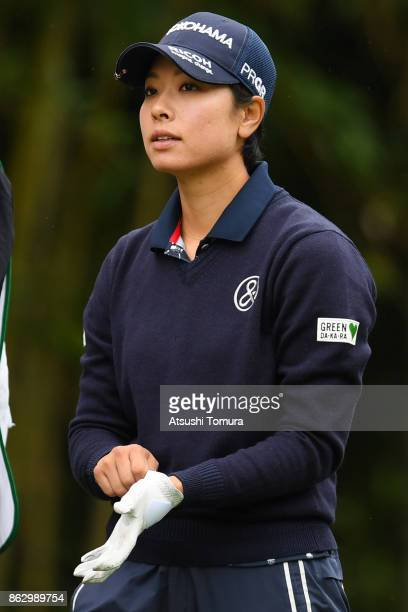 Rikako Morita of Japan looks on during the first round of the Nobuta Group Masters GC Ladies at the Masters Golf Club on October 19 2017 in Miki...