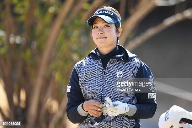 Rikako Morita of Japan looks on during the first round of the Yokohama Tire PRGR Ladies Cup at the Tosa Country Club on March 10 Konan Japan