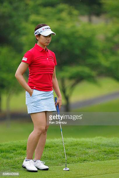 Rikako Morita of Japan putts on the 11th hole during the first round of the Suntory Ladies Open at the Rokko Kokusai Golf Club on June 9 2016 in Kobe...