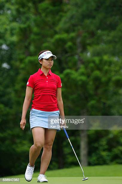 Rikako Morita of Japan putts on the 13th hole during the first round of the Suntory Ladies Open at the Rokko Kokusai Golf Club on June 9 2016 in Kobe...