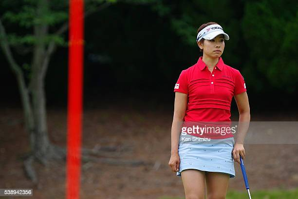 Rikako Morita of Japan putts on the 15th hole during the first round of the Suntory Ladies Open at the Rokko Kokusai Golf Club on June 9 2016 in Kobe...