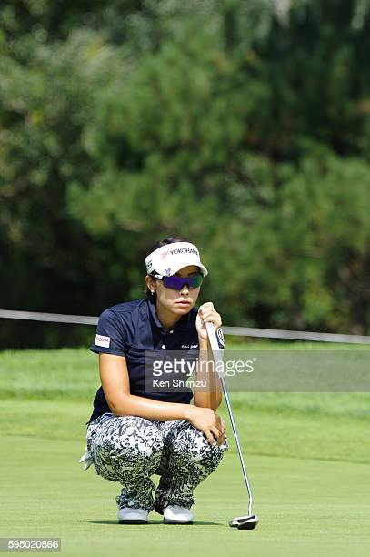 Rikako Morita of Japan putts on the 6th hole during the first round of the Nitori Ladies 2016 at the Otaru Country Club on August 25 2016 in Otaru...