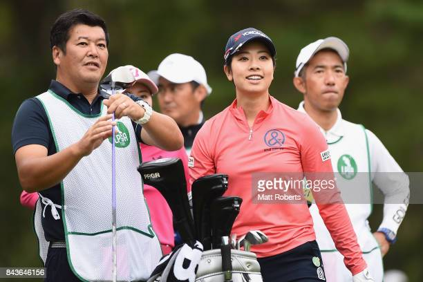 Rikako Morita of Japan smiles during the first round of the 50th LPGA Championship Konica Minolta Cup 2017 at the Appi Kogen Golf Club on September 7...