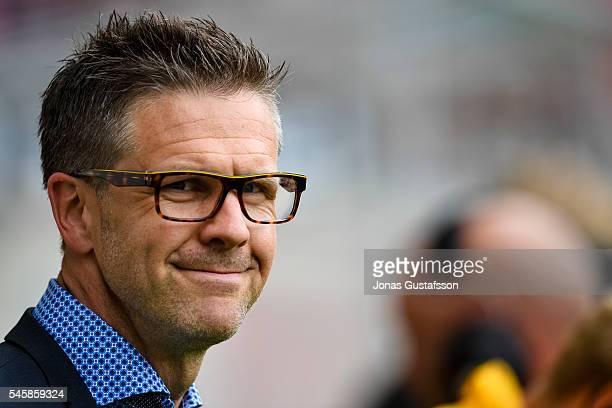 Rikard Norling head coach of AIK during the allsvenskan match between Kalmar FF and AIK at Guldfageln Arena on July 10 2016 in Kalmar Sweden