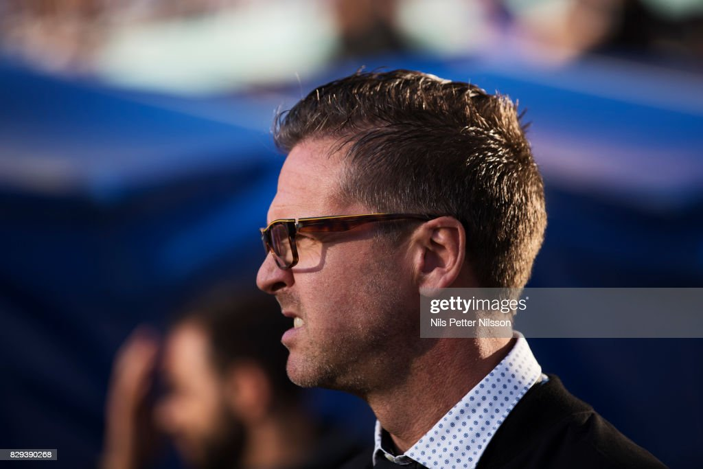 Rikard Norling, head coach of AIK during the Allsvenskan match between IFK Goteborg and AIK at Gamla Ullevi on August 10, 2017 in Gothenburg, Sweden.