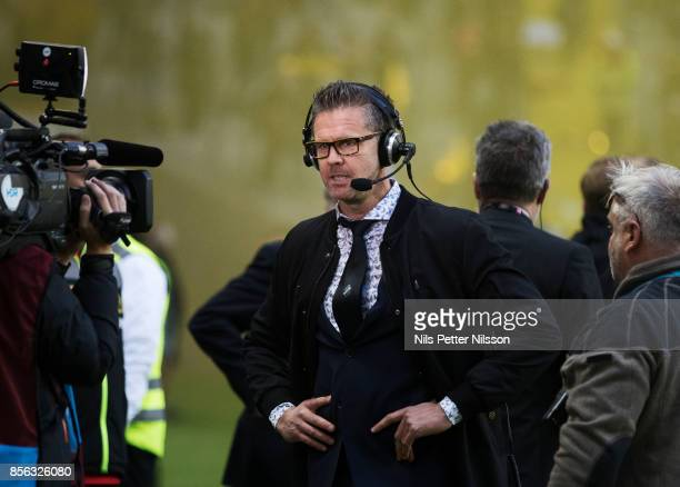 Rikard Norling head coach of AIK during the Allsvenskan match between AIK and IF Elfsborg at Friends Arena on October 1 2017 in Solna Sweden