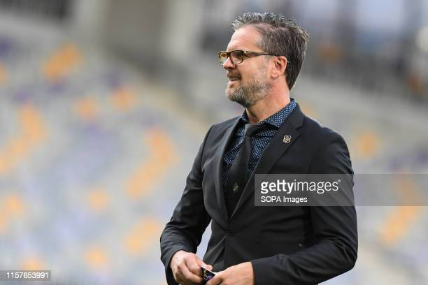 Rikard Norling, head coach of AIK seen during the Second qualifying round of the UEFA Champions League between NK Maribor and AIK Football at the...