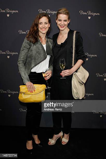 Rike Schmid and Anja Knauer attend the Dom Perignon Creators Dinner Divine Coalecence at Baerensaal on June 4 2012 in Berlin Germany