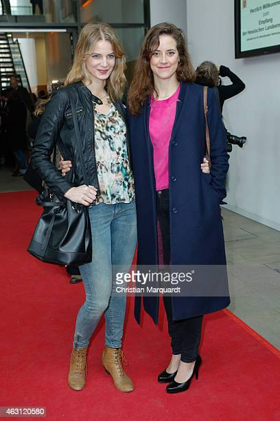 Rike Schmid and Anja Knauer attend the Hessian Reception 2015 during the 65th Berlinale International Film Festival on February 10 2015 in Berlin...