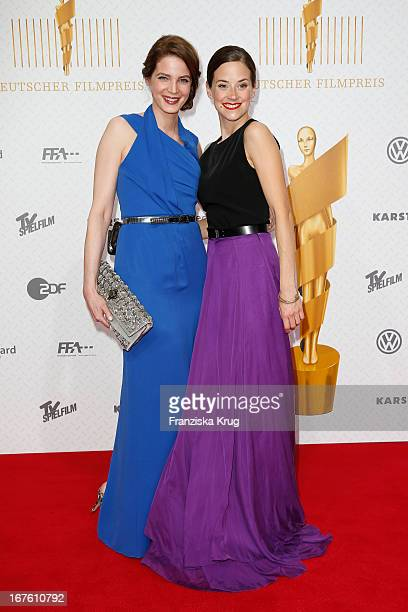 Rike Schmid and Anja Knauer attend the Lola German Film Award 2013 at FriedrichstadtPalast on April 26 2013 in Berlin Germany