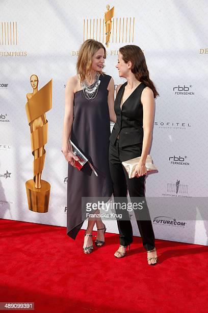 Rike Schmid and Anja Knauer attend the Lola German Film Award 2014 at Tempodrom on May 09 2014 in Berlin Germany